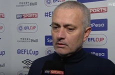 It won't take you long to watch Jose Mourinho's 28-second post-match interview