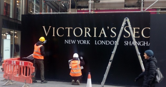 The first hint of Dublin's huge new Victoria's Secret store has appeared on Grafton Street