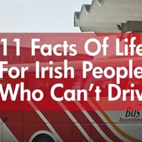 11 facts of life for Irish people who can't drive