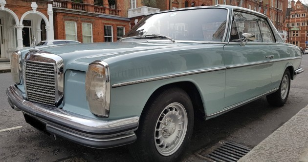 This eye-catching Mercedes 250 CE is an icon of 1960s German design
