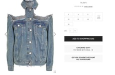 Topshop has taken the 'cold shoulder' trend way too far with this denim jacket