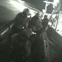 Watch: Dramatic moment five fishermen rescued from sinking trawler this morning