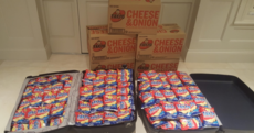 An Irishman sent almost 300 bags of Tayto to his little brother abroad to share with his classmates
