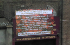 There's a massive, baffling, love letter on Pearse Street right now
