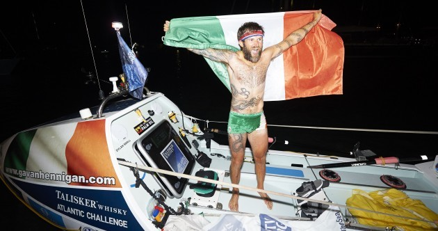 Gavan Hennigan completes 5000km solo row across the Atlantic Ocean