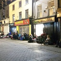 Irish fans have been queuing since yesterday afternoon to get their hands on Ed Sheeran tickets