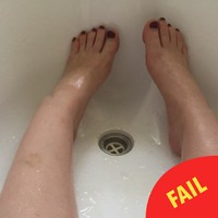 A woman got trapped in her bath after using too much coconut oil, and it was just a bit gas