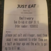 This takeaway in Castlebar got an urgent chip request from a 'downtrodden husband'