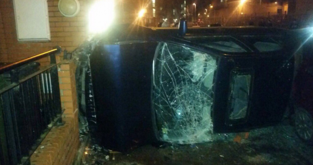 Two men injured in Dublin car crash after failing to stop for gardaí