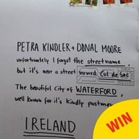 An Post proved themselves again by delivering *this* letter from Germany to Waterford