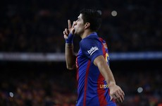 Suarez scores and then sees red but nine-man Barcelona hold on in thrilling semi