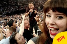 This is what happens when Bruce Springsteen spots you taking a selfie in the crowd