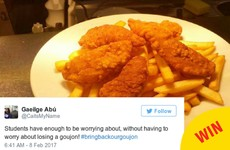 DCU messed with the iconic Nubar chicken goujons, and the students are raging