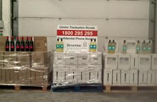 Over 780 litres of smuggled wine seized at Dublin Port