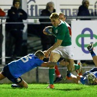 Larmour's second-half brace hands Ireland U20s thrilling Six Nations win in Italy