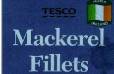 Tesco Ireland has recalled a batch of its Mackerel Fillets