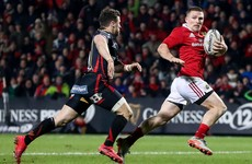 A 90-metre breakaway try was the highlight of Munster's win last night