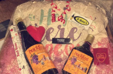An off-licence in Armagh is selling these stunning Valentine's Buckfast hampers