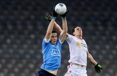 Still unbeaten: Dublin kick last five points against Tyrone to claim dramatic draw