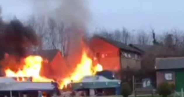 Several injured after explosion and major blaze at Oxford flats
