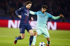 PSG's Adrien Rabiot gave a midfield masterclass against Barcelona last night