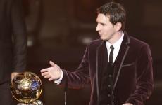 Messi takes FIFA Ballon D'Or