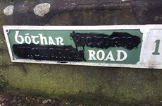 A protest group is painting over the names of 'British-sounding' streets in Cork