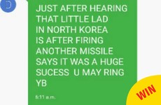 An Irish Dad sent his son the most Dad text imaginable about 'the little lad in North Korea'