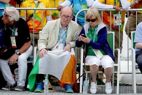 Ross watching Annalise Murphy sailing in Rio