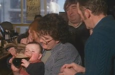 An Irish baby supping a pint on Nationwide in 1997 has become a phenomenon