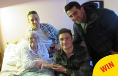 A group of Connacht rugby players visited a hospice in Galway for Valentine's Day
