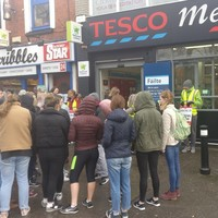 A St Pat's lecturer brought her students to Tesco today to teach them about the strike