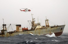 Coast Guard rescues severely injured Russian fisherman 140 miles out at sea in heavy winds