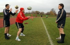 Sherry back on the training ground with Munster