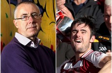 Barr's in blue - the only other All-Ireland senior club double bid before Slaughtneil
