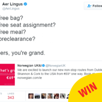 Aer Lingus gave Norwegian Air a masterclass in sass on Twitter this evening