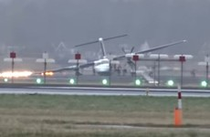 Passenger plane skids along Amsterdam runway during heavy winds