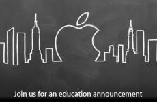 Apple confirms plans for mysterious 'education announcement'