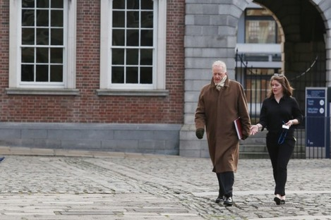 Justice Peter Charleton on the opening day of the Disclosures Tribunal in Dublin Castle.