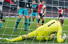 PSV keeper Zoet bemoans Feyenoord's 'f***** up' Hawk-Eye winner