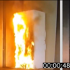 Video shows how quickly a fridge fire can spread when it gets set alight
