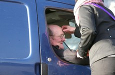That drive-thru Ash Wednesday service took place this morning, and the photos are incredible