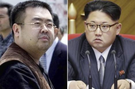 The deceased Kim Jong Nam, left, and his half-brother, North Korean leader Kim Jong Un.
