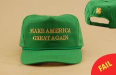 Donald Trump's new 'Irish' St Patrick's Day cap has a big mistake on it