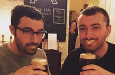 Why has Sam Smith been sightseeing and drinking pints in Donegal?