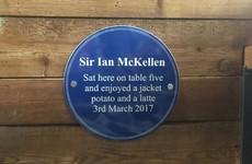 A students' union has erected the best plaque dedicated to Ian McKellen's visit