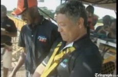 Zambia's tourism Minister does bungee jump to prove it's safe