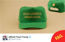 Donald Trump has had to pull that embarrassing 'Irish' Paddy's Day hat from sale