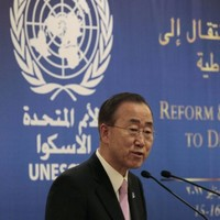 UN chief says Syrian president must stop violence