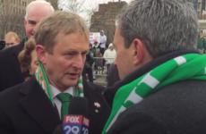 Watch Enda Kenny teach a US reporter how to pronounce 'Taoiseach'
